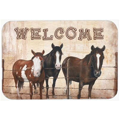 Welcome Mat Size: 24 H x 36 W x 0.25 D