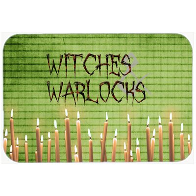 Witches and Warlocks Halloween Kitchen/Bath Mat Size: 20 H x 30 W x 0.25 D