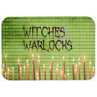 Witches and Warlocks Halloween Kitchen/Bath Mat Size: 20 H x 30 W x 0.25 D