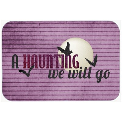 A Haunting We Will Go Halloween Kitchen/Bath Mat Size: 24 H x 36 W x 0.25 D