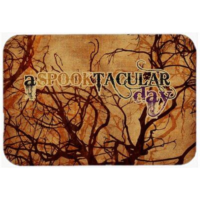 A Spook Tacular Day Halloween Kitchen/Bath Mat Size: 20 H x 30 W x 0.25 D