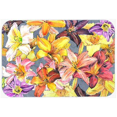 Day Lillies Kitchen/Bath Mat Size: 24
