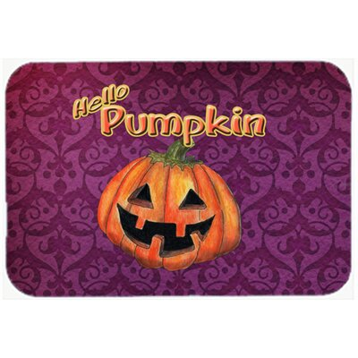 Hello Pumpkin Halloween Kitchen/Bath Mat Size: 20 H x 30 W x 0.25 D