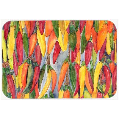 Hot Peppers Kitchen/Bath Mat Size: 24 H x 36 W x 0.25 D