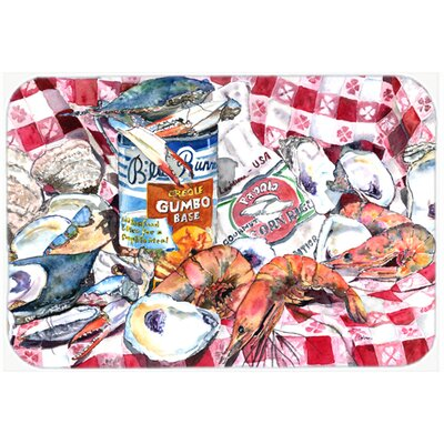 Runner Gumbo Receipe Kitchen/Bath Mat Size: 24 H x 36 W x 0.25 D