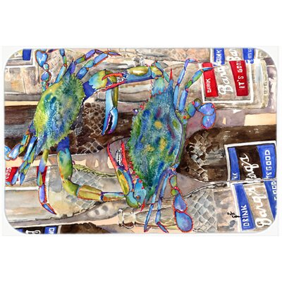Crabby Bottles Of Barqs Rootbeer Kitchen/Bath Mat Size: 24 H x 36 W x 0.25 D