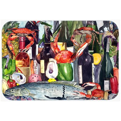 Wine and Speckled Trout Kitchen/Bath Mat Size: 24 H x 36 W x 0.25 D
