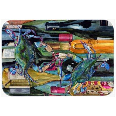 Crabby We Bottles Kitchen/Bath Mat Size: 24 H x 36 W x 0.25 D