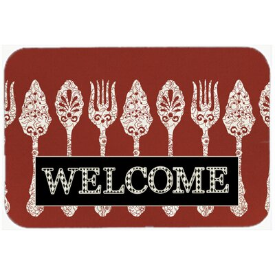 Serving Spoons Welcome Kitchen/Bath Mat Size: 24 H x 36 W x 0.25 D