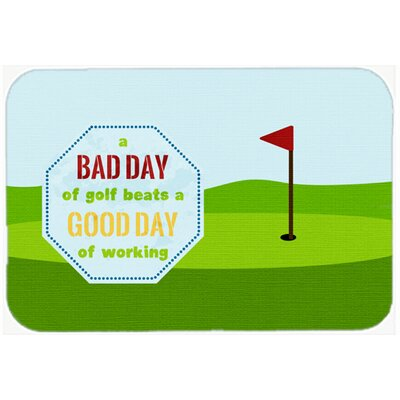 A Bad Day At Golf Kitchen/Bath Mat Size: 24 H x 36 W x 0.25 D
