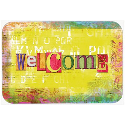 Artsy Welcome Kitchen/Bath Mat Size: 24 H x 36 W x 0.25 D