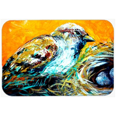 Look At The Birdie Kitchen/Bath Mat Size: 24 H x 36 W x 0.25 D