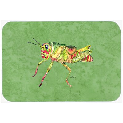 Grasshopper on Avacado Kitchen/Bath Mat Size: 24 H x 36 W x 0.25 D