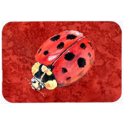 Lady Bug DeepKitchen/Bath Mat Size: 24 H x 36 W x 0.25 D