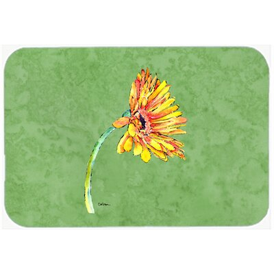 Gerber Daisy Orange Kitchen/Bath Mat Size: 24 H x 36 W x 0.25 D