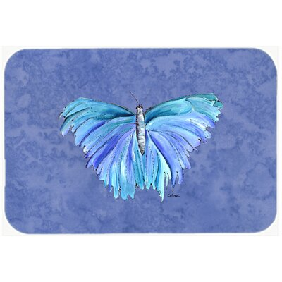 Butterfly on Slate Kitchen/Bath Mat Size: 24 H x 36 W x 0.25 D