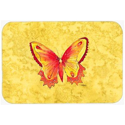 Butterfly Kitchen/Bath Mat Size: 20 H x 30 W x 0.25 D