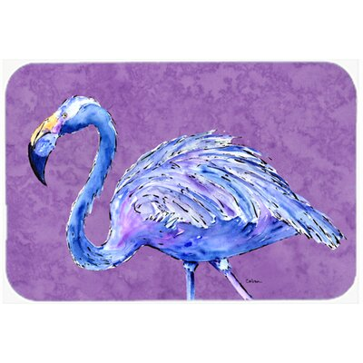Flamingo on Purple Kitchen/Bath Mat Size: 24 H x 36 W x 0.25 D