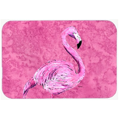 Flamingo on Pink Kitchen/Bath Mat Size: 24 H x 36 W x 0.25 D