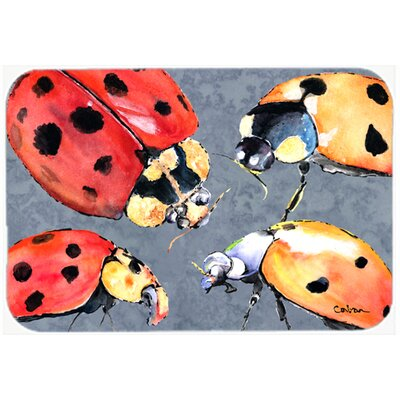 Lady Bug Multiple Kitchen/Bath Mat Size: 24 H x 36 W x 0.25 D