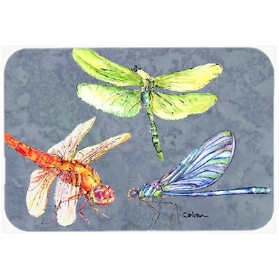 Dragonfly Times Three Kitchen/Bath Mat Size: 24 H x 36 W x 0.25 D