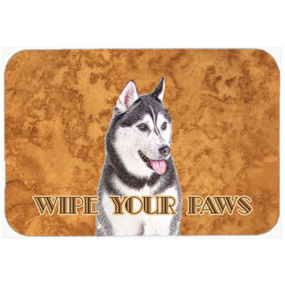 Alaskan Malamute Wipe Your Paws Kitchen/Bath Mat Size: 24 H x 36 W x 0.25 D