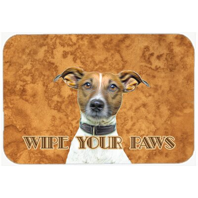 Jack Russell Terrier Wipe Your Paws Kitchen/Bath Mat Size: 20 H x 30 W x 0.25 D