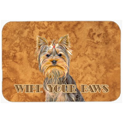 Yorkie / Yorkshire Terrier Wipe Your Paws Kitchen/Bath Mat Size: 20 H x 30 W x 0.25 D