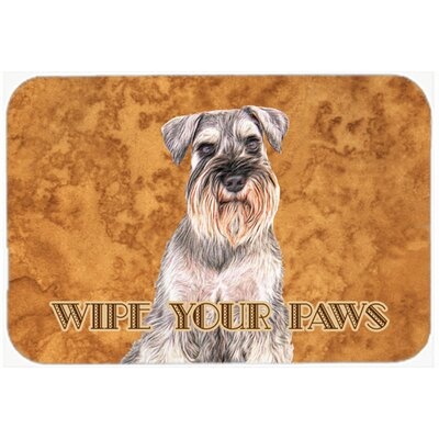 Schnauzer Wipe Your Paws Kitchen/Bath Mat Size: 20 H x 30 W x 0.25 D