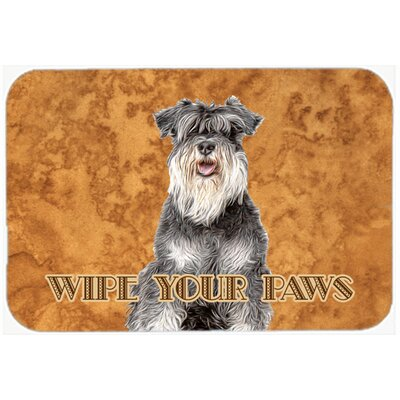 Schnauzer Wipe Your Paws Kitchen/Bath Mat Size: 24 H x 36 W x 0.25 D