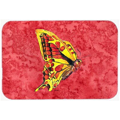 Butterfly Kitchen/Bath Mat Size: 24