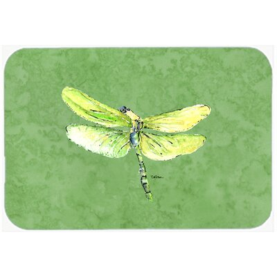 Dragonfly on Avacado Kitchen/Bath Mat Size: 20 H x 30 W x 0.25 D