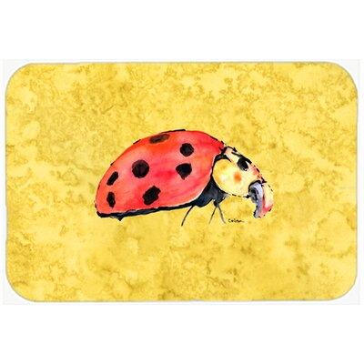 Lady Bug Kitchen/Bath Mat Size: 24 H x 36 W x 0.25 D