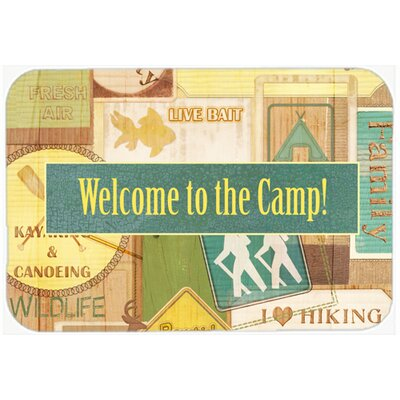 Welcome To The Camp Kitchen/Bath Mat Size: 24 H x 36 W x 0.25 D