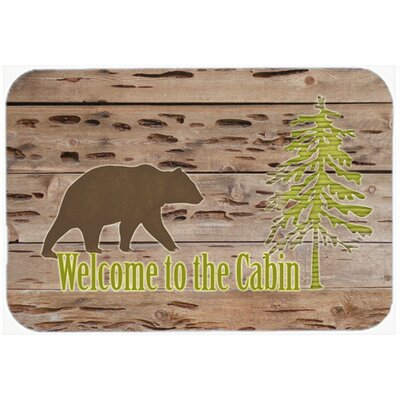 Welcome To The Cabin Kitchen/Bath Mat Size: 24 H x 36 W x 0.25 D