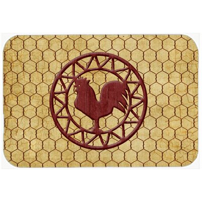 Rooster Chicken Coop Kitchen/Bath Mat Size: 24 H x 36 W x 0.25 D