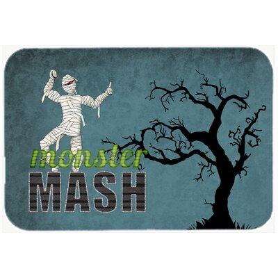 Monster Mash with Mummy Halloween Kitchen/Bath Mat Size: 20 H x 30 W x 0.25 D