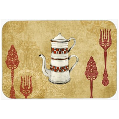 Teapot Welcome Kitchen/Bath Mat Size: 20 H x 30 W x 0.25 D