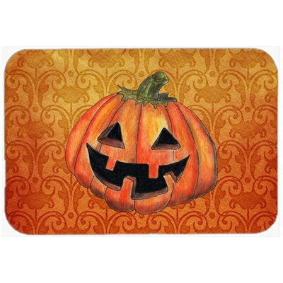 October Pumpkin Halloween Kitchen/Bath Mat Size: 20 H x 30 W x 0.25 D