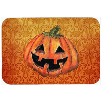 October Pumpkin Halloween Kitchen/Bath Mat Size: 24 H x 36 W x 0.25 D