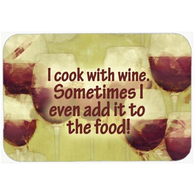 I Cook with Wine Kitchen/Bath Mat Size: 24 H x 36 W x 0.25 D