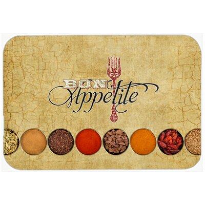 Bon Appetite and Spices Kitchen/Bath Mat Size: 24 H x 36 W x 0.25 D