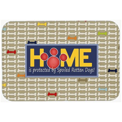 Home Is Protected By Spoiled Rotten Dogs Kitchen/Bath Mat Size: 24 H x 36 W x 0.25 D