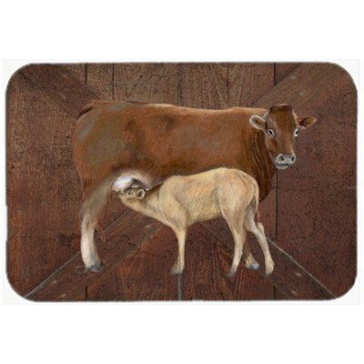 Cow Momma and Baby Kitchen/Bath Mat Size: 24 H x 36 W x 0.25 D