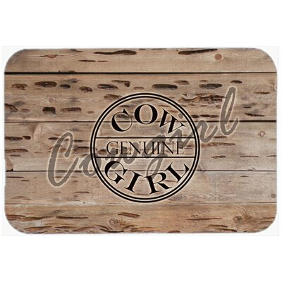 Genuine Cow Girl Branded Kitchen/Bath Mat Size: 24 H x 36 W x 0.25 D