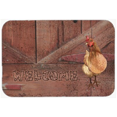 Welcome Chicken Kitchen/Bath Mat Size: 24 H x 36 W x 0.25 D