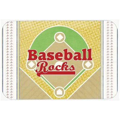 Baseball Rocks Kitchen/Bath Mat Size: 20 H x 30 W x 0.25 D