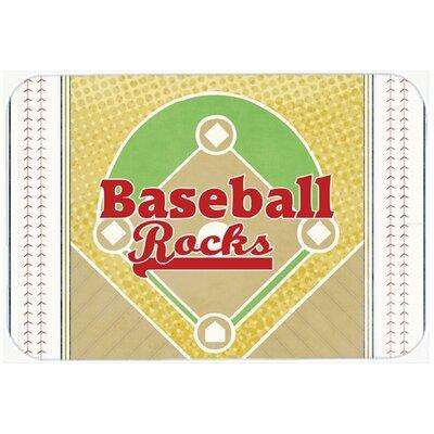 Baseball Rocks Kitchen/Bath Mat Size: 24 H x 36 W x 0.25 D