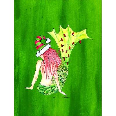 Christmas Mermaid 2-Sided Garden Flag