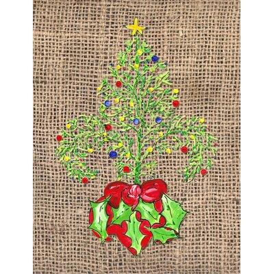 Christmas Tree Fleur de lis 2-Sided Garden Flag
